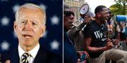 Joe Biden/Demonstration i St. Louis till stöd för Black lives matter TT/AP