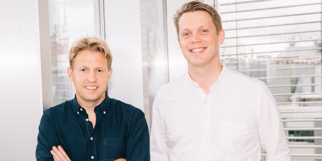 Grundarna Daniel Kjellén och Fredrik Hedberg. Pressbild.