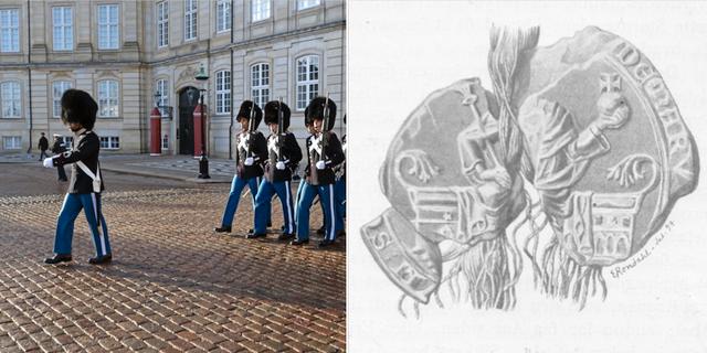 Vaktombyte vid Amalienborg/Valdemar III:s sigill TT/Wikipedia Commons