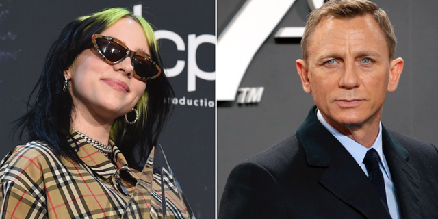 Billie Eilish/Bond-skådisen Daniel Craig. TT