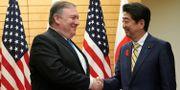 Mike Pompeo och Shinzo Abe.  POOL / TT NYHETSBYRÅN
