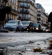 Trafik i Frankrikes huvudstad Paris.  Christophe Ena / TT NYHETSBYRÅN