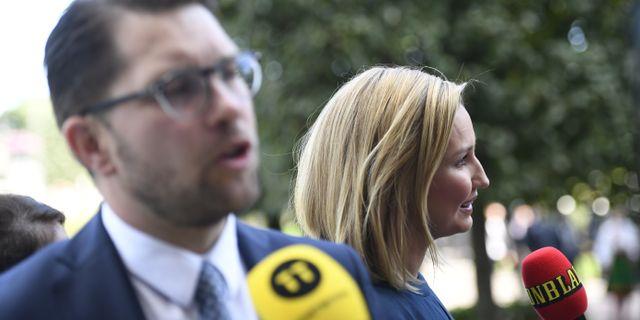 Jimmie Åkesson (SD) och Ebba Bush Thor (KD) Pontus Lundahl/TT / TT NYHETSBYRÅN