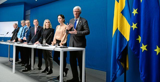 Bild från en pressträff i mars. Tomas Oneborg/SvD/TT / TT NYHETSBYRÅN
