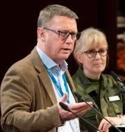 Friberg och Mustchefen Lena Hallin Henrik Montgomery/TT / TT NYHETSBYRÅN