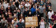 Demonstration i Budapest. Zsolt Szigetvary / TT NYHETSBYRÅN