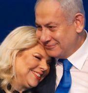 Arkivbilder på Trump och paret Netanyahu. Illustrationsbild av smutstvätt TT