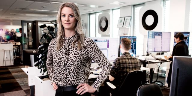Maria Landeborn, sparekonom Magnus Sandberg