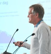 Anders Tegnell under dagens pressträff. Fredrik Sandberg/TT / TT NYHETSBYRÅN