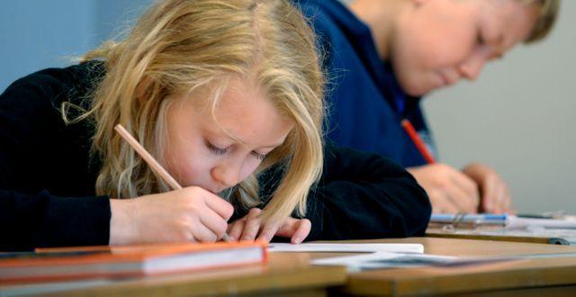 Illustrationsbild på skolelever.  JANERIK HENRIKSSON / TT / TT NYHETSBYRÅN