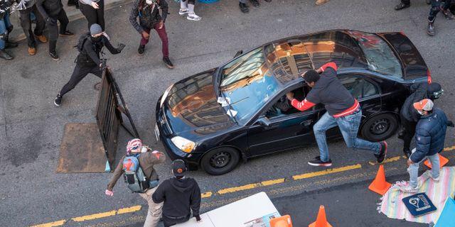 Demonstrationer i Seattle. Dean Rutz / TT NYHETSBYRÅN