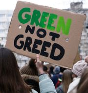 Klimatdemonstration utanför EU:s högkvarter i Bryssel.  Shutterstock
