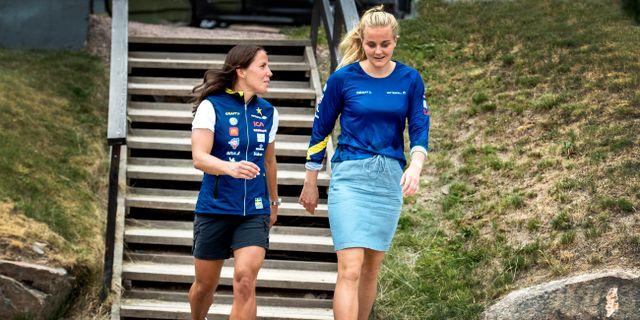 Charlotte Kalla och Stina Nilsson.  Ulf Palm/TT / TT NYHETSBYRÅN
