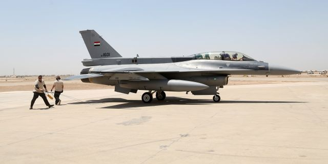 Iraks F16-plan.  Khalid Mohammed / TT / NTB Scanpix