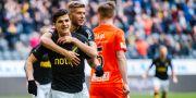 Tarik Elyounoussi jublar efter 2–0. JOHANNA LUNDBERG / BILDBYRÅN