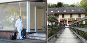 Polis undersöker hotellet i Passau.  TT