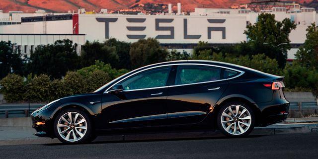 Arkivbild: Teslas nya Model 3.  TT / NTB Scanpix