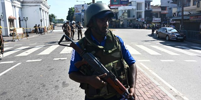 Bild från Colombo idag. JEWEL SAMAD / AFP