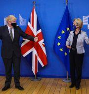 Storbritanniens premiärminister Boris Johnson, EU-chefen Ursula von der Leyen. Arkivbild. Aaron Chown / TT NYHETSBYRÅN