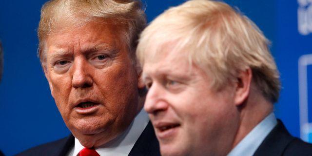 USA:s president Donald Trump och Storbritanniens premiärminister Boris Johnson.  Peter Nicholls / TT NYHETSBYRÅN