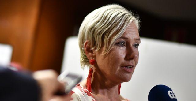 Socialdemokraternas Anna Johansson. Björn Larsson Rosvall/TT / TT NYHETSBYRÅN