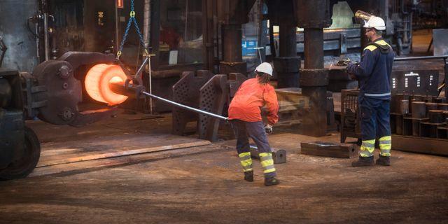 Arkivbild från stålverk.  Fredrik Sandberg/TT / TT NYHETSBYRÅN