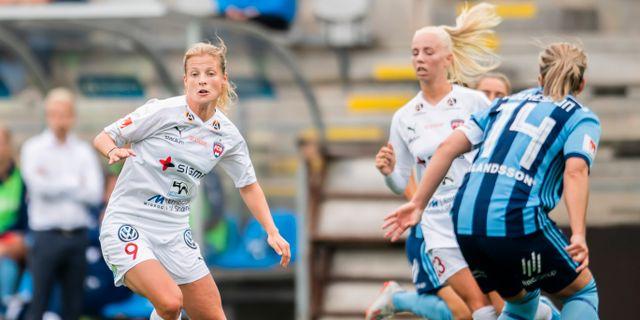 Anna Anvegård blev tvåmålsskytt mot Djurgården. AVDO BILKANOVIC / BILDBYRÅN