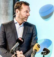 Arkivbild: Johan Dennelind var tidigare vd och koncernchef för Telia Company, här tillsammans med dåvarande styrelseordföranden Marie Ehrling (2017).  Lars Pehrson/SvD/TT / TT NYHETSBYRÅN