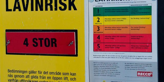 Varningsskylt. Nisse Schmidt/TT / TT NYHETSBYRÅN