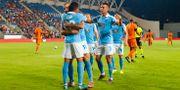 Malmö FF firar i Tel Av LUDVIG THUNMAN / BILDBYRÅN