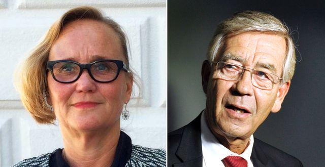 Ingela Hessius och Peter Althin kommenterar domen. Foto: Advokat Ingela E Hessius AB/TT