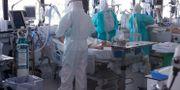 Vård av covid-19-sjuka i Barcelona. PAU BARRENA / TT NYHETSBYRÅN