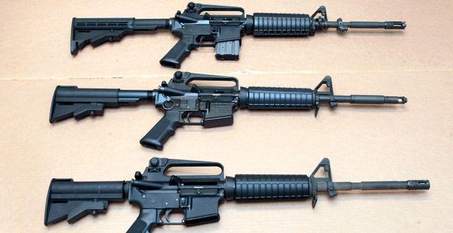 Tre typer av AR-15 Rich Pedroncelli / TT NYHETSBYRÅN