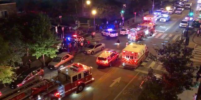 Räddningstjänst i Washington DC efter en skjutning.  CHRIS G COLLISON / TT NYHETSBYRÅN