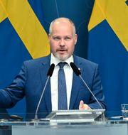 Justitieminister Morgan Johansson (S).  Anders Wiklund/TT / TT NYHETSBYRÅN