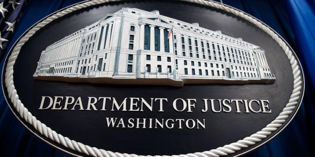 Det amerikanska justitiedepartementet presenterade nyheten idag. Patrick Semansky / TT NYHETSBYRÅN