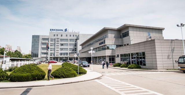 Illustrationsbild från en Ericsson-fabrik i Kina.  Magnus Hjalmarson Neideman/SvD/TT / TT NYHETSBYRÅN