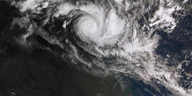 Cyklonen Trevor.  BUREAU OF METEOROLOGY / TT NYHETSBYRÅN