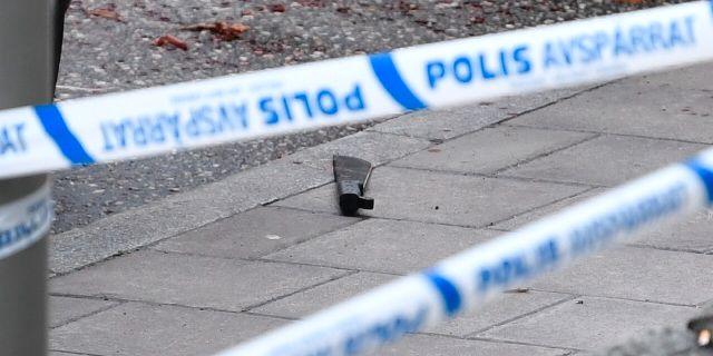 Tillhygget som användes vis attacken. Anders Wiklund/TT / TT NYHETSBYRÅN