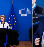 Ursula von der Leyen och Viktor Orbán. TT