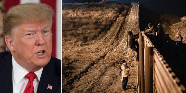Donald Trump/Muren till Mexiko. TT