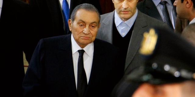 Hosni Mubarak.  Ahmed Abdel Fattah / TT NYHETSBYRÅN