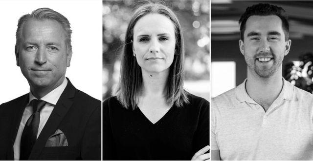 Alexander Gustafsson, Sandra Bourbon och Jonas Olavi. Foton: pressbild & Hedda Nilsson & Nordnet
