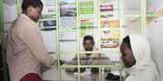 I Kenya är M-pesa en av de största betallösningarna. Här ett kontor i nairobi där människor kan göra överföringar.