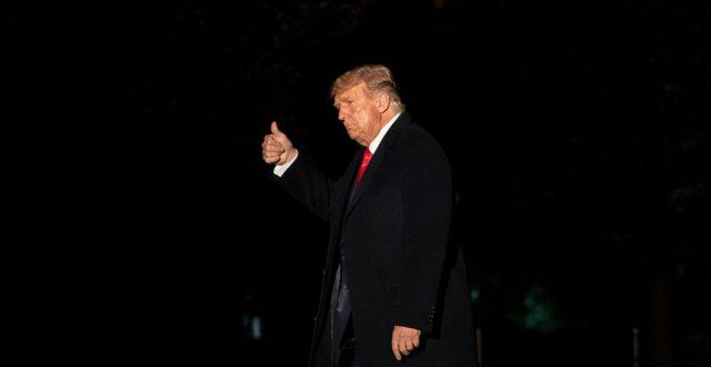 Trump under natten Carolyn Kaster / TT NYHETSBYRÅN