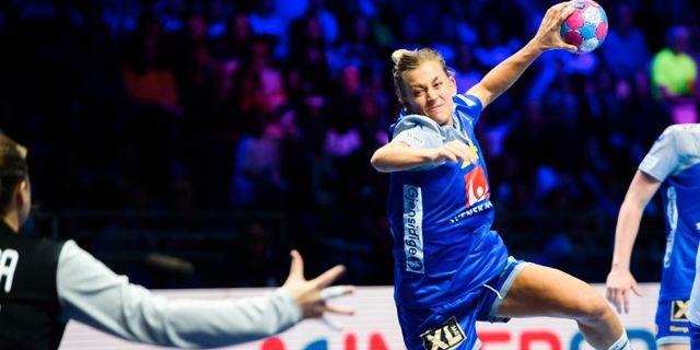 Nathalie Hagman under matchen. LUDVIG THUNMAN / BILDBYR N