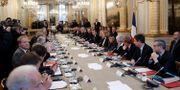 Bland annat ministrar, fack och näringsliv deltog i mötet. POOL / TT NYHETSBYRÅN