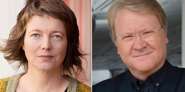 Malin Björk (V) och Lars Adaktusson (KD). Arkivbilder. TT