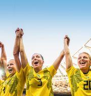VM 2019. Hanna Glas, Linda Sembrant och Mimmi Larsson. PETTER ARVIDSON / BILDBYRÅN