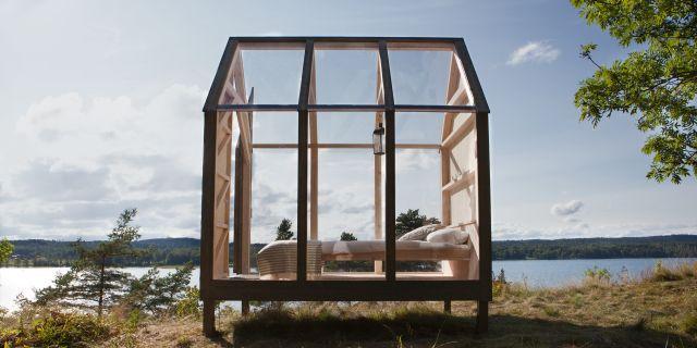 Här är glaskabinen som sägs få stressnivåerna att sjunka med 70 procent på 72 timmar. Visit Sweden